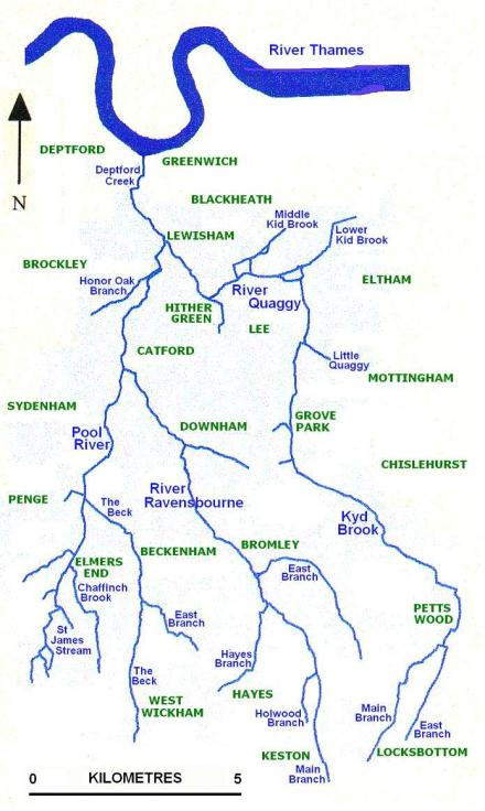 Ravensbourne Catchment Map
